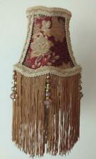 DIVINE CLIP ON BESPOKE LAMPSHADE IN RED & GOLD CHENILLE FABRIC PORTER & STONE