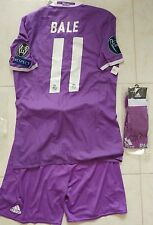 BALE WALES REAL MADRID AWAY 2016 2017 FULL KIT ADIZERO PLAYER VERSION NO WORN