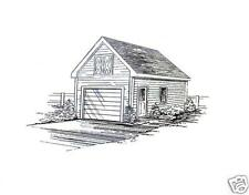 13x24 Mini Garage / Yard Shed Building Blueprint Plans