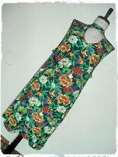 Derek Heart Navy Tropical Botanical Floral Bird Choker Keyhole A Line Dress 2X