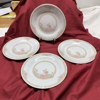 "Crown Ming China CHRISTINA Jian Shiang - 7-1/2"" Luncheon / Salad Plates Set Of 4"