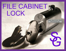 FILE CABINET LOCK, SARGENT & GREENLEAF® OEM, FACTORY-NEW WITH TWO KEYS