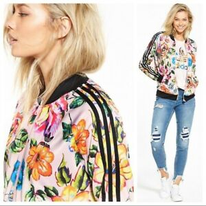 Adidas Floralita Superstar Track Jacket Full Zip Floral Colorful Size M RARE HTF