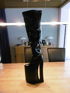 Erogance Mega Plateau Overknee Stiefel Größe 43 NEU, 32cm Heels