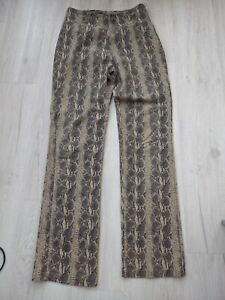 High Waisted Vintage Snake Croc Print Trousers Straight Leg 90's 00 Size 12