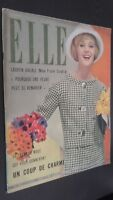 Revista Elle N º 641 Revista Semanal Abril 1958 ABE