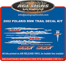 2002 POLARIS RMK TRAIL HOOD DECALS  graphics  reproduction  550