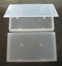 (2) VHS Videocassette Dust Proof Semi-Transparent Plastic VCR Tape Storage Cases