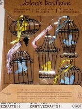 "JOLEE'S BOUTIQUE 3-DIMENSIONAL ""VINTAGE BIRD CAGES"" STICKERS FOR CARDS 5 PIECES"