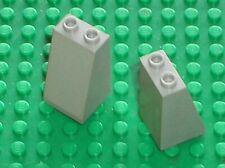 2 x LEGO chateau castle OldGray slope brick ref 3684 / set 6085 6089 10123 4730
