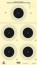 A-23/5 NRA Official 50 Yard Smallbore Rifle Target, on Tagboard (100)