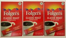 Folgers Instant Coffee ~ 7 Single Packets ~ Classic Roast ~ Lot of 3