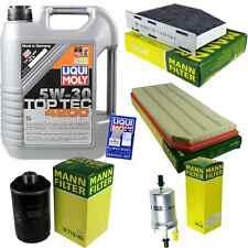 Inspection Kit Filter Liqui Moly Oil 5L 5W-30 for Seat Leon 1P1 2.0 Cupra