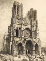 LEPERE FRENCH REIMS CATHEDRAL OLD ART PAINTING POSTER PRINT BB4885A