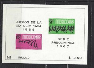 MEXICO - C329a S/S - MNH - 1967 - 19TH OLYMPIC GAMES, MEXICO  CITY