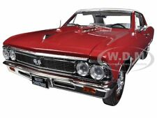 1966 CHEVROLET CHEVELLE SS 396 L78 CHRISTMAS EDITION RED 1/18 AUTOWORLD AMM1041