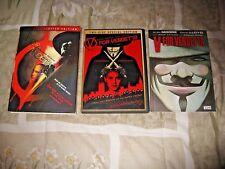 V For Vendetta Natalie Portman DVD 2006 2-Disc + Comic Book) COMPLETE SET