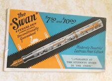 The Swan Eternal Fountain Pen Ink Advertising Blotter Card