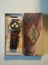 020 American Eagle Chronograph Wrist Watch With Box Leather Band Green Face