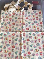 CATH KIDSTON CHRISTMAS BAUBLES Cotton BOOK BAG BNWT FREE POST