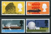 GB 1966 MNH British Technology Hovercraft Cars Telescopes 4v Set Stamps