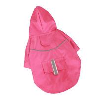 Mode Haustier Hund Wasserdicht Regenmantel Kapuzenjacke Für Hunde Welpe Pink-L