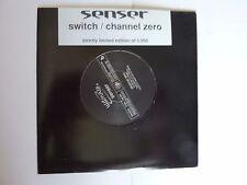 """SENSER SWITCH CHANNEL ZERO LTD NUMBERED 7"""" VINYL NEW"""