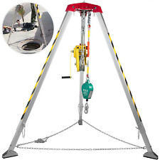 Vevor Confined Space Tripod Kit Well Rescue 16 245m Tripod With 2600lbs Winch