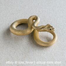 Jewelry Snake Keychain Charm Keyrings Brass Viper Snake Serpent Pendant Snake