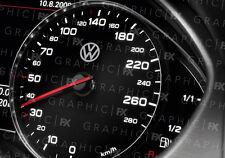 x8 Premium Volkswagon VW Logo Car Interior Speedometer Speedo Decals Stickers