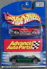 HOT WHEELS ~ ADVANCE AUTO PARTS SET ~ 1965 CORVETTE - RED ~ BALLISTIK - GREEN