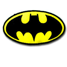 Batman Logo Patch Embroidered Iron on Applique Cartoon Kid Movie Motif Superhero