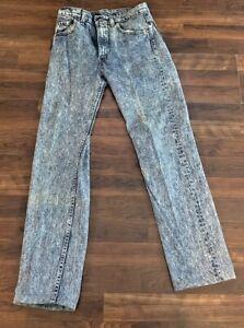 Vintage Mens Made In USA Levis Red Tab Denim Jeans Worn Acid Wash 30x31 GUC