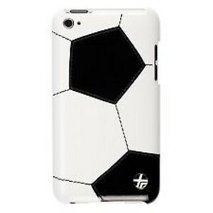 Trexta Sports Series Soccer Snap-On Leather Case for iPod Touch 4G White/Black