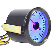 "Blue Light Car Auto Universal Pointer 2"" 52mm Bar Turbo Boost Gauge Meter WYS"
