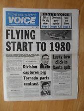 THE ROLLS ROYCE VOICE JANUARY 1980 UK Mkt Internal Newspaper brochure
