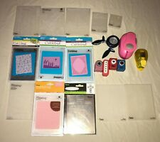 PUNCHES EMBOSSING FOLDERS sizzix cuttlebug lot 20 items art mixed media paper