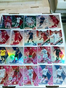 Huge 90 Card 2021 Mosaic UEFA Soccer Lot Colors Rookies Inserts And More