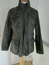 Laura Ashley petite tartan wax cotton jacket small size 8 vvgc
