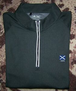 ADIDAS CLIMALITE 1/4 Zip Pullover Sweater Shirt ST ANDREWS GOLF CLUB Size L Gray