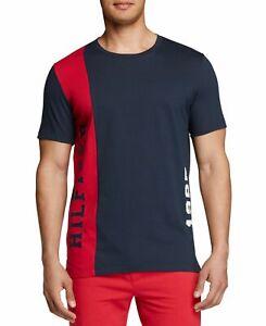 Tommy Hilfiger Mens Sleepwear Blue Red Size XL Colorblocked Crewneck Tee $36 054
