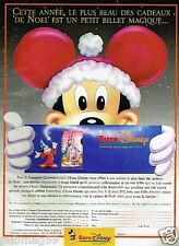 Publicité advertising 1991 Euro Disney Disneyland paris