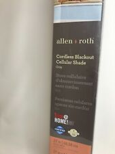 """ALLEN + ROTH Blackout CORDLESS CELLULAR SHADE, Gray, 27"""" x 64"""" Missing Item"""