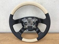 RANGE ROVER L322 STEERING WHEELS BLACK & BEIGE PERFORATED LEATHER NEW!!!