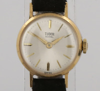 Vintage Tudor Royal Rolex Ladies Manual Wristwatch 9ct Yellow Gold
