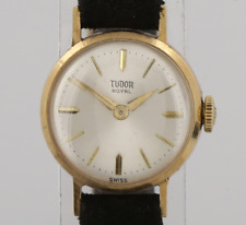 Vintage Tudor Royal Rolex Ladies Manual Wristwatch 9ct Yellow Gold