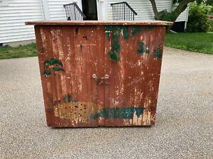 Antique Original Painted Rustic Farm Primitive Jelly Pantry Cupboard Cabinet