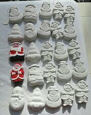 50 x mixed xmas decorations plaster painting figures ready to paint