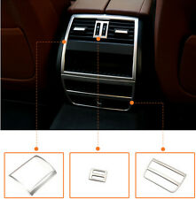 For BMW 5 Series F10 2011-2014 3pcs Rear armrest box decoration cover trim