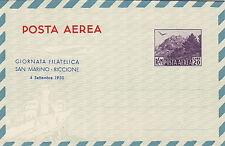SAN MARINO 1950 AEROGRAMMA GIORNATA FILATELICA LIRE 20 VIOLA CATALOGO A3